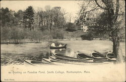 Boating on Paradise Pond, Smith College