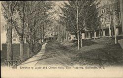 Entrance to Lock and Clinton Halls, Blair Academy