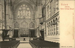 Interior, Keble College Chapel Postcard