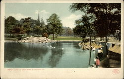 Lake in West Park Postcard