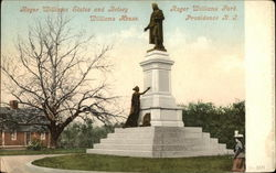 Roger Williams Statue and Betsy, Roger Williams Park, Williams House