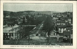 Bird's Eye View of Maple Avenue looking North