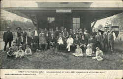 Group at Littleton Depot, including some of the Oldest Inhabitants