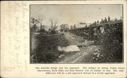 The Arkville bridge and the Approach Postcard