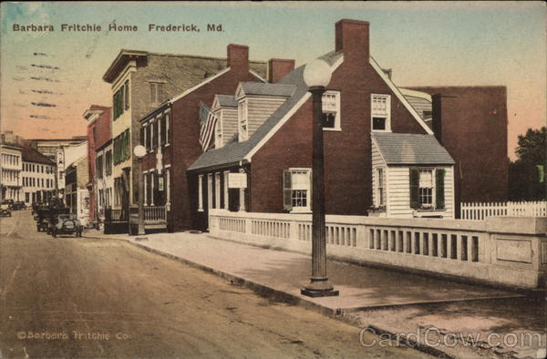 Barbara Fritchie Home Frederick Maryland