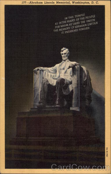 Abraham Lincoln Memorial Washington District of Columbia