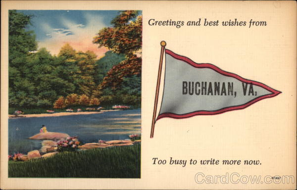 Greetings and Best Wishes from Buchanan Virginia