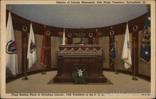 Interior of Lincoln Monument, Oak Ridge Cemetery Springfield Illinois