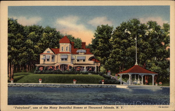 Fairyland, one of the many beautiful homes at Thousand Islands New York