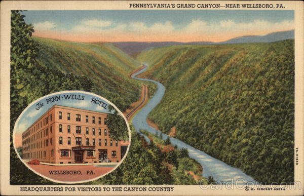 Pennsylvannia's Grand Cayon Near Wellsboro Pennsylvania