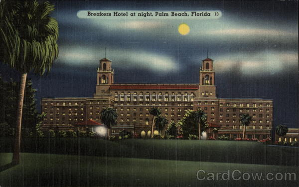 Breakers Hotel at night Palm Beach Florida