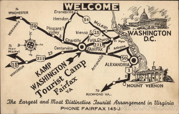 Kamp Washington The Largest and Most Distictive Tourist Arrangement in Virginia Fairfax