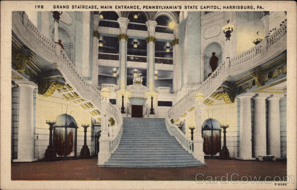 Grand Staircase, Main Entrance, Pennsylvania's State Capitol Harrisburg