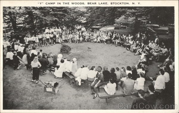 Y Camp in the Woods at Bear Lake Stockton New York
