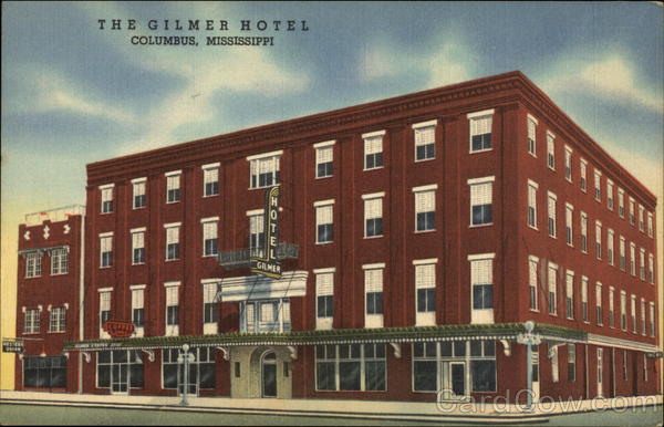 The Gilmer Hotel Columbus Mississippi C T Art Colortone