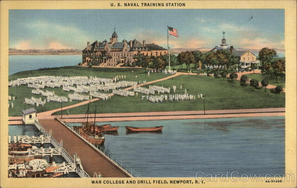 US Naval Training Station, War College and Drill Field Newport Rhode Island