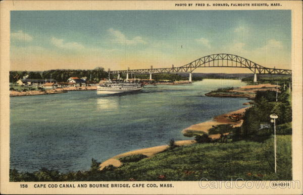 Cape Cod Canal and Bourne Bridge Massachusetts