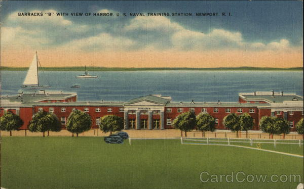 Barracks B With View of Harbor, U.S. Naval Training Station Newport Rhode Island