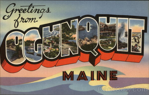 Greetings from Ogunquit Maine Large Letter