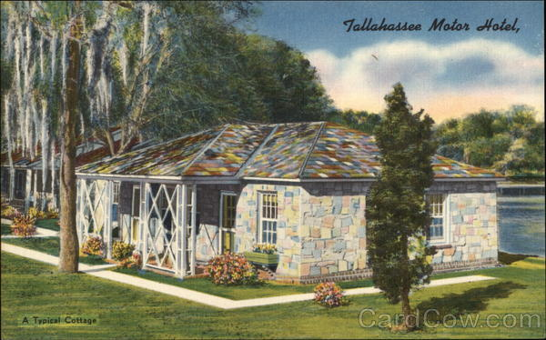 A Typical Cottage, Tallahassee Motor Hotel` Florida