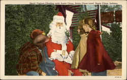 Small Visitors Chatting with Santa Claus, Santa Claus Land