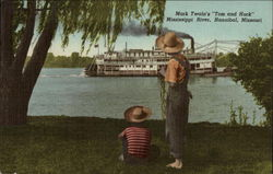 "Mark Twain's ""Tom and Huck"", Mississippi River"