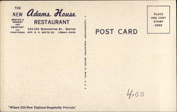 The New Adams House Restaurant