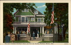 The Late President Harding's Home and Now the Harding Museum Postcard