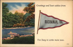 Greetings and Best Wishes from Buchanan Postcard