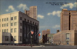 City Hall and Public Library Postcard