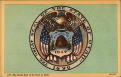 The Great Seal of the State of Utah Postcard