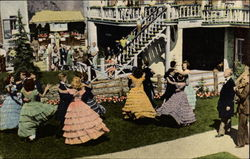 Square Dancers Dancing on the Lawn