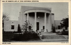 Hall of Domestic Arts at Texas Centennial Exposition Postcard