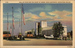 Hall of State and the Court of Honor: Texas Centennial Exposition Postcard