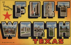 Greetings from Fort Worth Postcard
