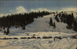 Skiers at the Summit of Berthoud Pass