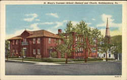 St. Mary's Convent-School-Rectory and Church Postcard