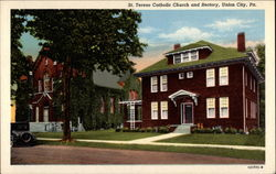 St. Teresa Catholic Church and Rectory Postcard