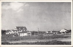 Seaside House and Cottages on Gooche's Beach Postcard