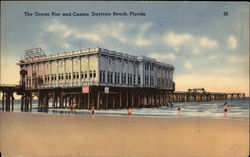 The Ocean Pier and Casino Postcard