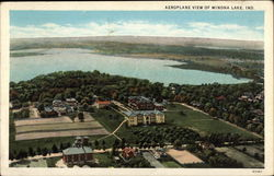 Aeroplane view of Winona Lake