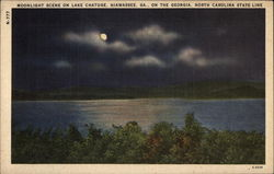 Moonlight Scene on Lake Catuge