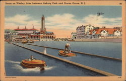 Boats on Wesley Lake between Asbury Park and Ocean Grove