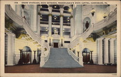 Grand Staircase, Main Entrance, Pennsylvania's State Capitol