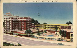 Riverside Hotel on the Truckee River Postcard