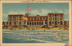 Ocean View at Nansemond Hotel Postcard