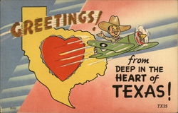 Greetings from Deep in the Heart of Texas Postcard