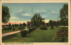General Hospital and Grounds Postcard