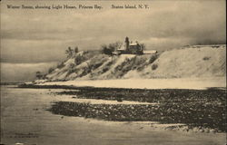 Winter Scene, Showing Light House, Princess Bay