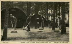 Seabees Clean Up Their Hives Postcard
